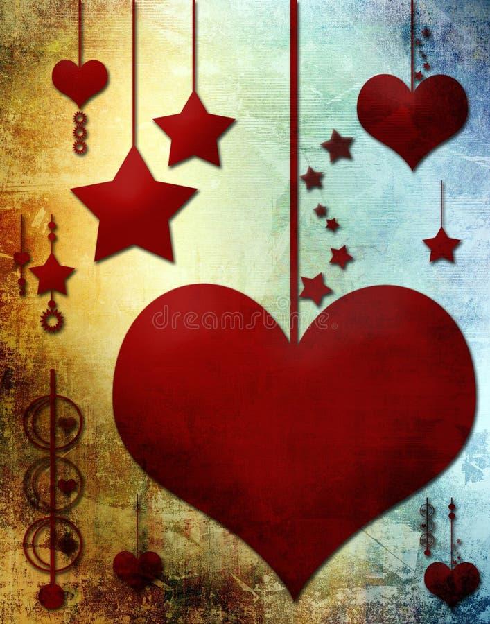 Corações e estrelas imagem de stock royalty free