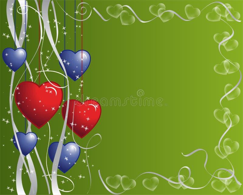 Corações e frame das fitas ilustração royalty free