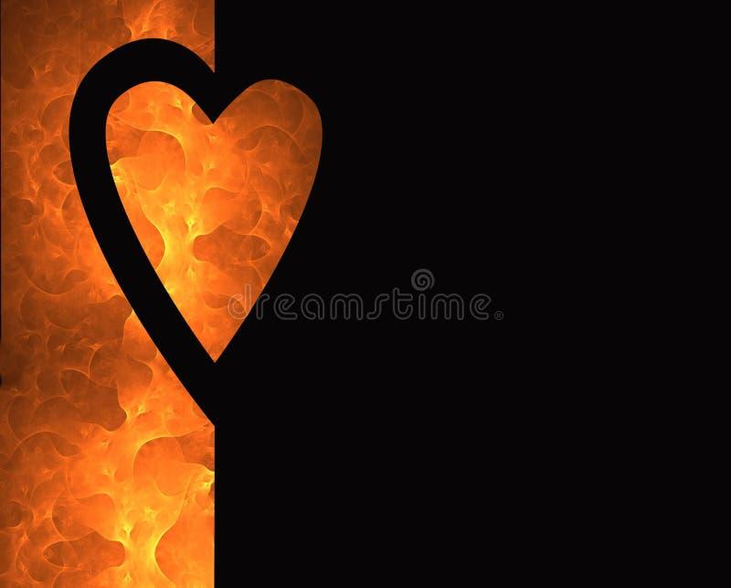 Corações e incêndio 2 ilustração do vetor