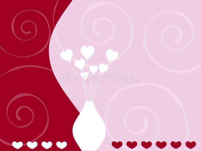 Corações e redemoinhos ilustração stock