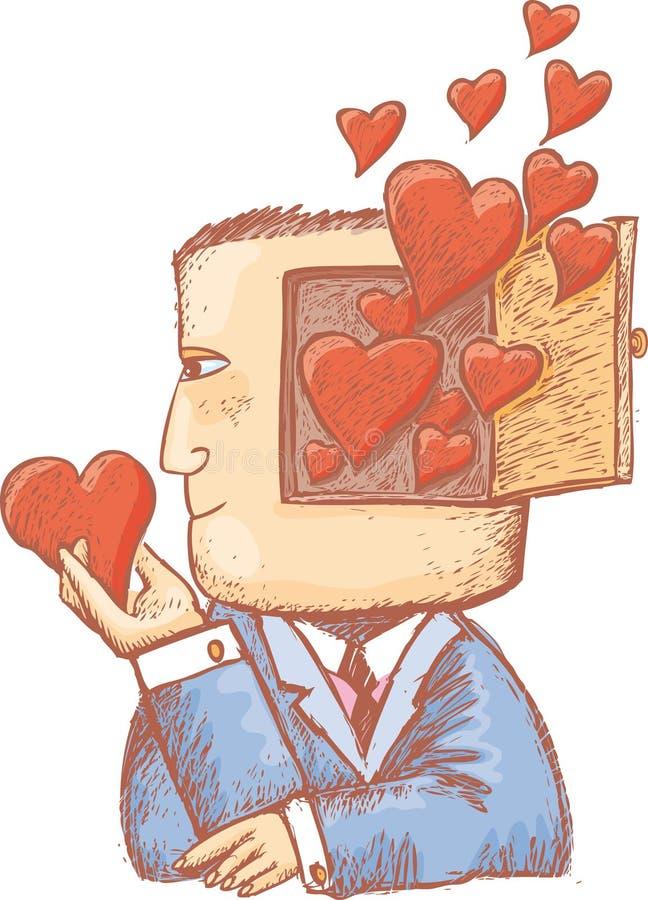 Corações em minha mente ilustração stock