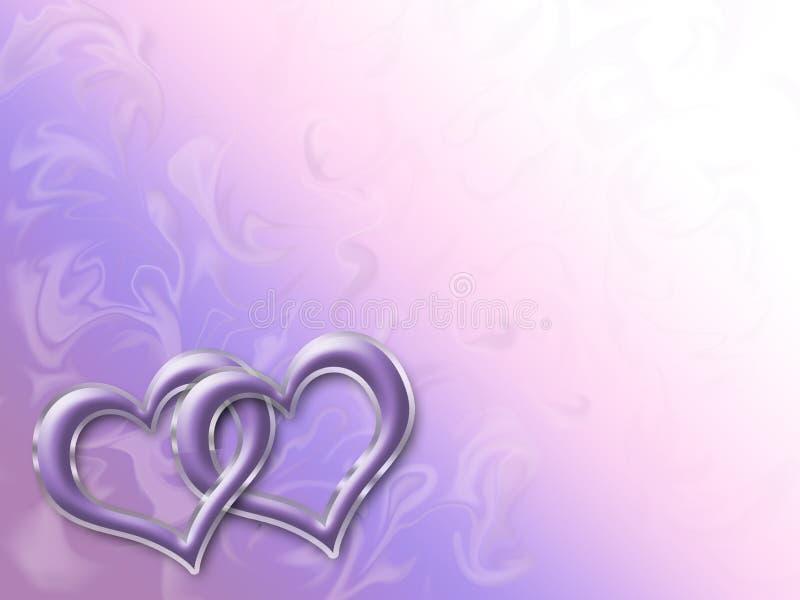 Corações lig ilustração do vetor