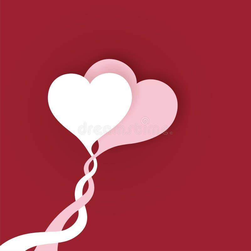 Corações Loving imagens de stock