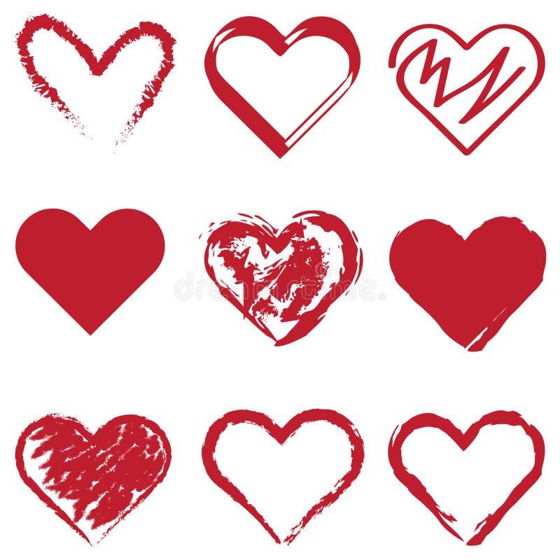 Corações múltiplos imagens de stock
