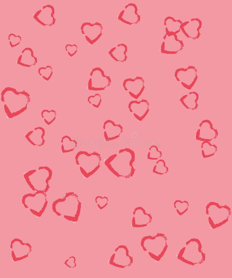 Corações no fundos cor-de-rosa fotos de stock royalty free