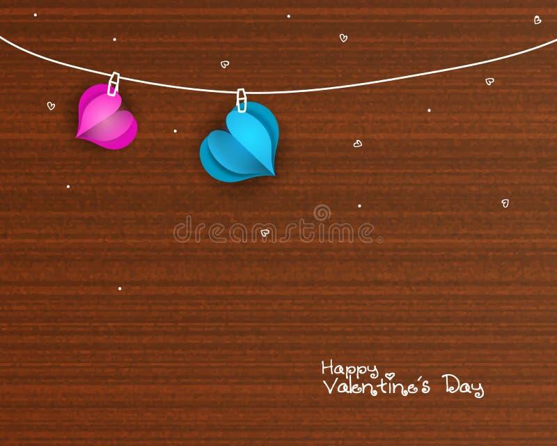 Corações para a celebração do dia do ` s do Valentim ilustração royalty free