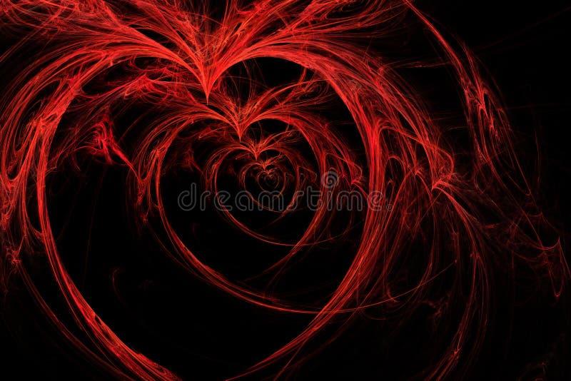 Corações selvagens no preto ilustração royalty free