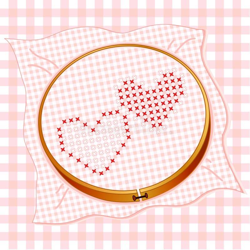corações transversais do ponto de +EPS ilustração stock
