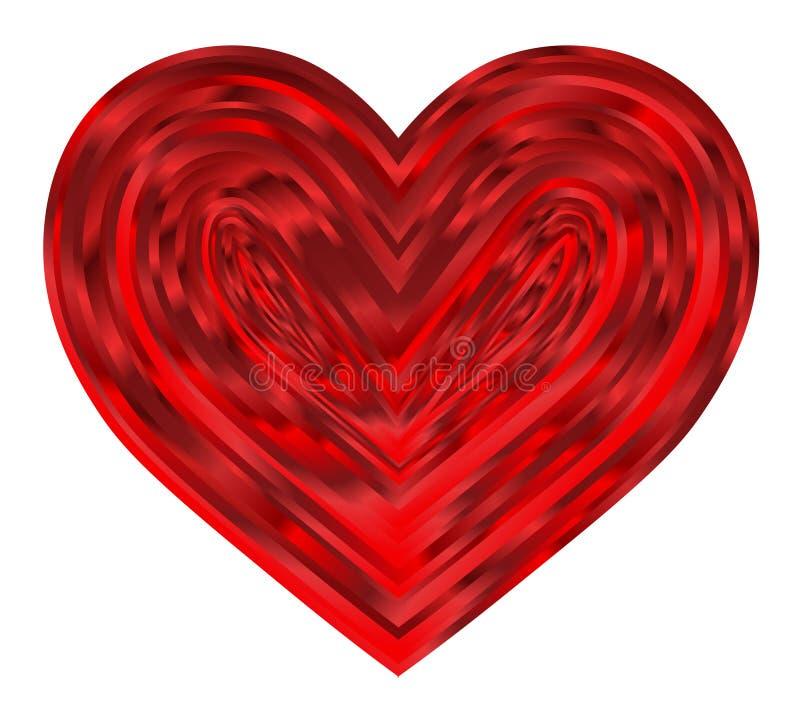 Corações vermelhos bonitos dentro dos corações do ` s do Valentim fotografia de stock royalty free