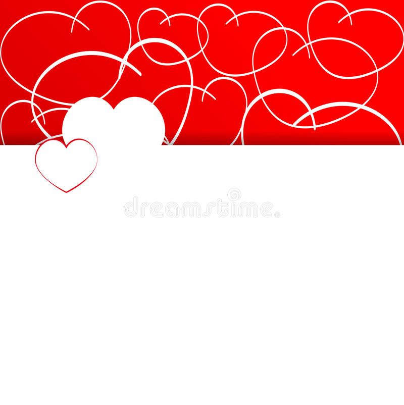 Corações vermelhos Coração vermelho ilustração do vetor