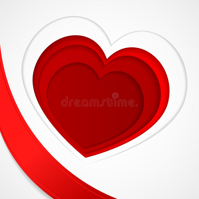 Corações vermelhos Coração vermelho Forma do amor ilustração do vetor