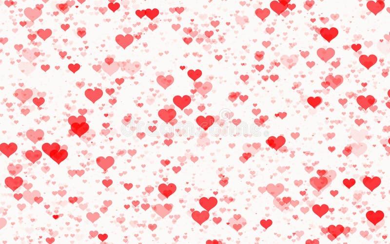 Corações vermelhos nos fundos brancos ilustração royalty free