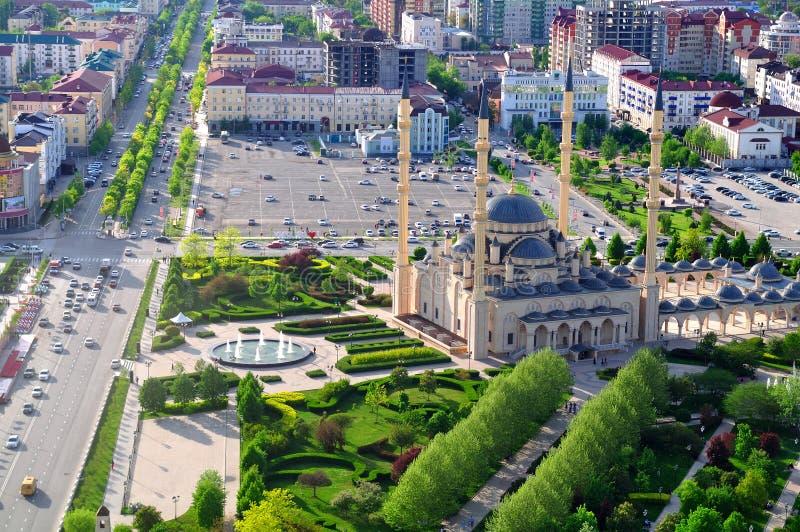 Cora??o da mesquita de Chechnya grozny Rep?blica chechena R?ssia fotos de stock royalty free