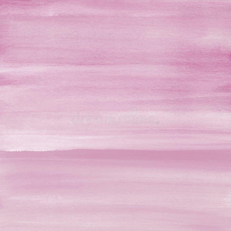 Cora o fundo cor-de-rosa da textura da aquarela, pintado à mão fotografia de stock royalty free