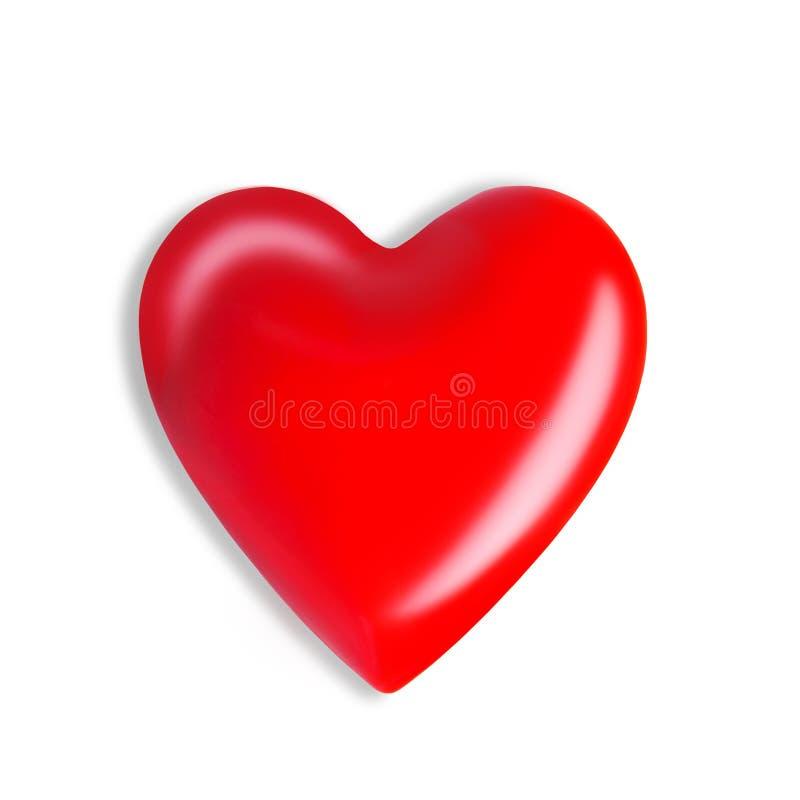 Cora??o vermelho isolado no fundo branco conceito dos cuidados médicos e da medicina com coração vermelho ilustração do vetor
