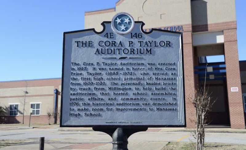 Cora P. Taylor Auditorium at Manassas High School, Memphis, TN stock photography