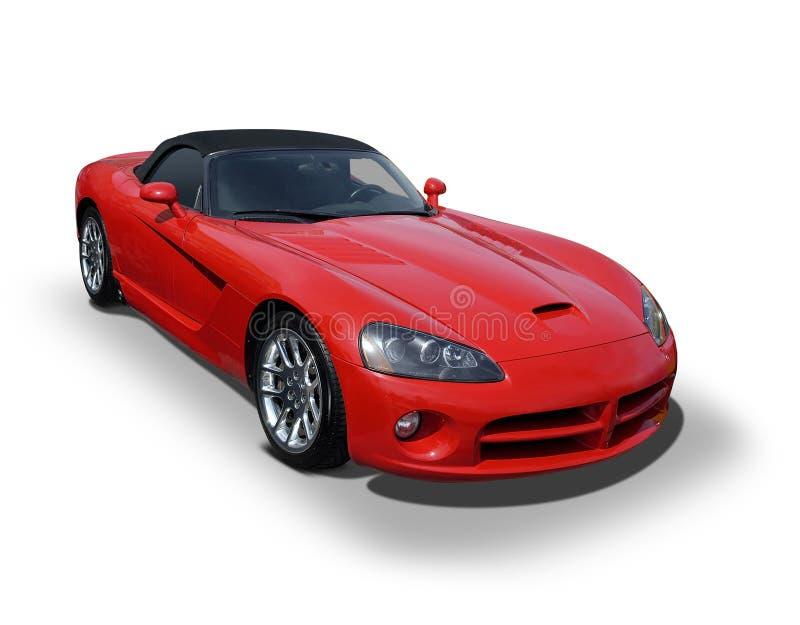 Cora vermelho ostenta o sedan fotografia de stock royalty free