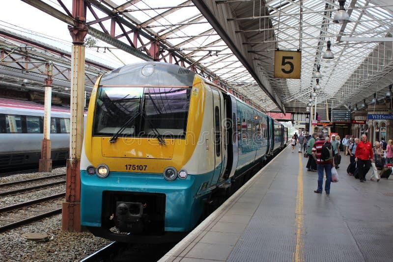 Coradia het diesel station met meerdere eenheden van Crewe royalty-vrije stock afbeelding