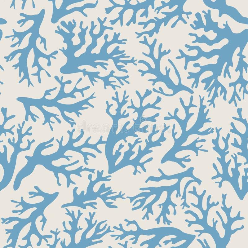Corail, modèle sans couture de coquillages dans le style de vintage Illustration de vecteur illustration de vecteur