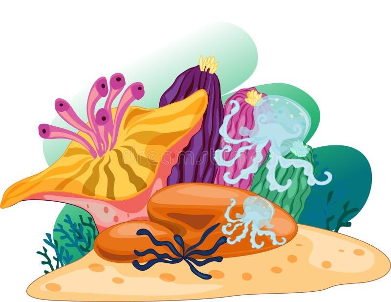 Coral ilustración del vector