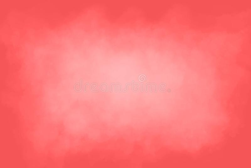 Coral Background Surrounding Cloudy White-Mist stock foto