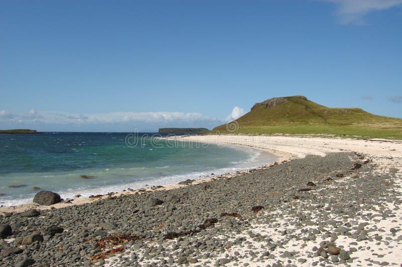 Coral bay rocky shorteline skye. Coral Beach near Dunvegan on the isle of Skye royalty free stock photo