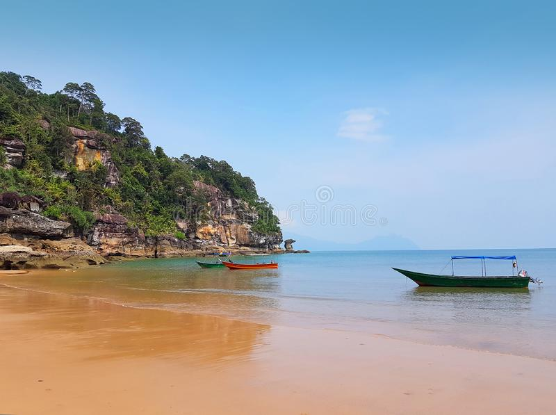 Coral Bay-Strand, Insel Perhentian Kecil, Malaysia stockbilder