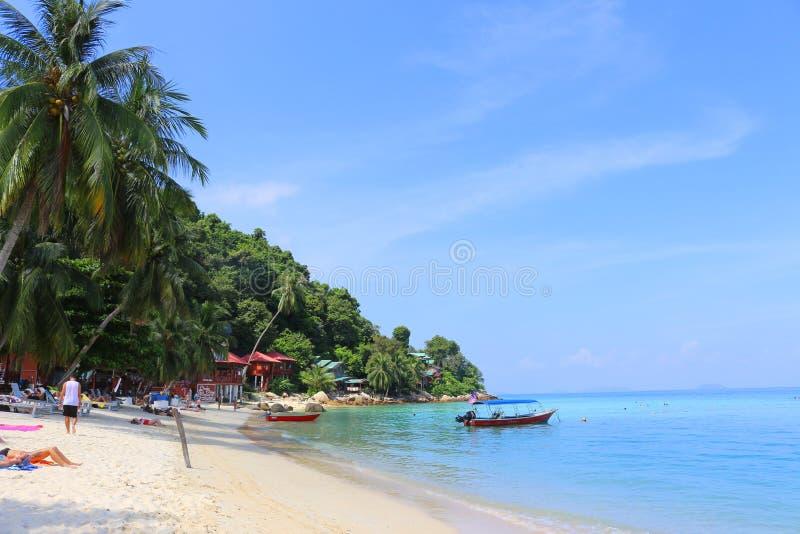 Coral Bay-Strand, Insel Perhentian Kecil, Malaysia lizenzfreie stockfotografie