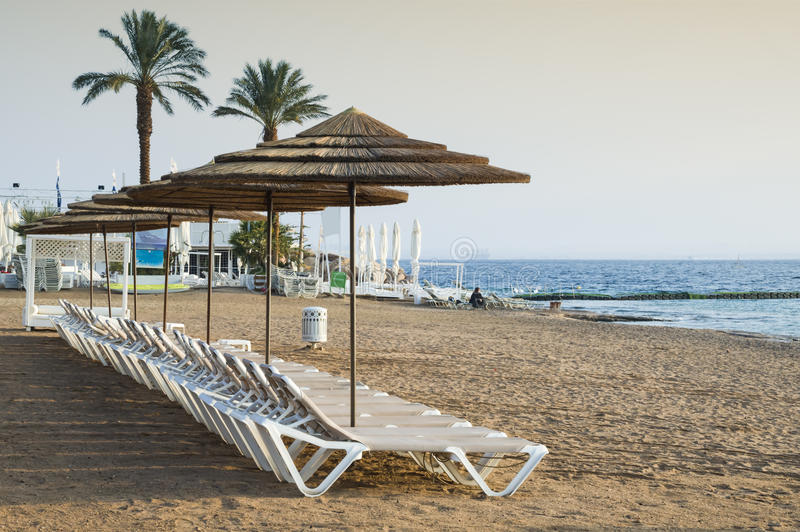 Coral beach of Eilat, Israel. Eilat is a famous resort and recreation city of Israel royalty free stock image