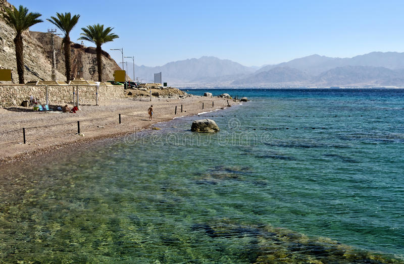 Coral beach near of Eilat, Israel. View on coral beach near Eilat, Israel stock images