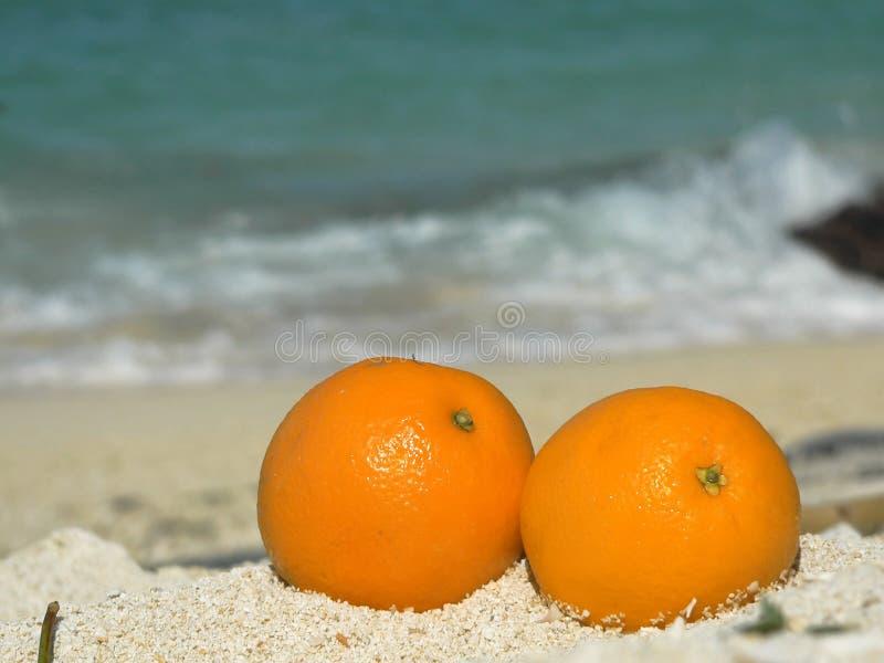 Coral Beach Oranges Sulu Sea SE Asia stock photo