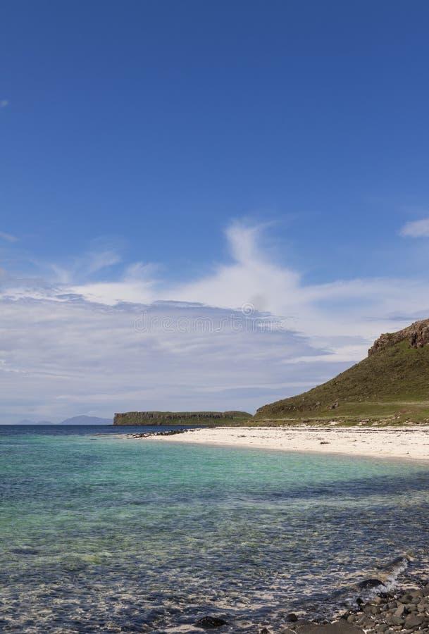 Coral Beaches Claigan Isle av Skye arkivfoton