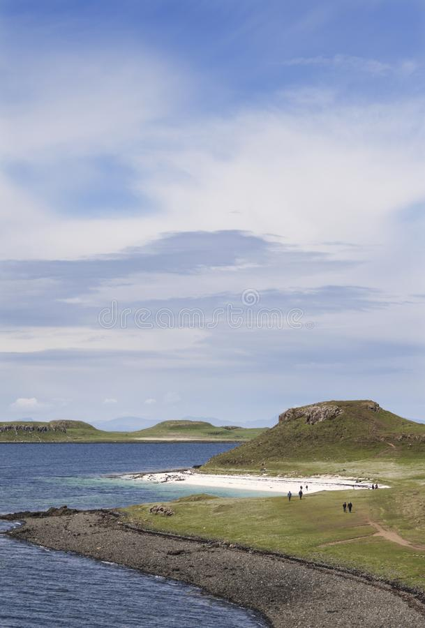 Coral Beaches Claigan Isle de Skye, Ecosse photographie stock libre de droits