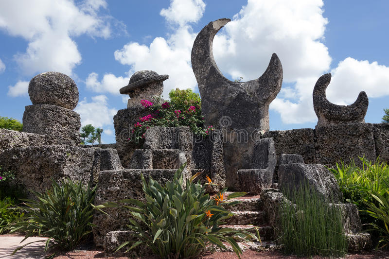 Coral Castle i Florida arkivfoto