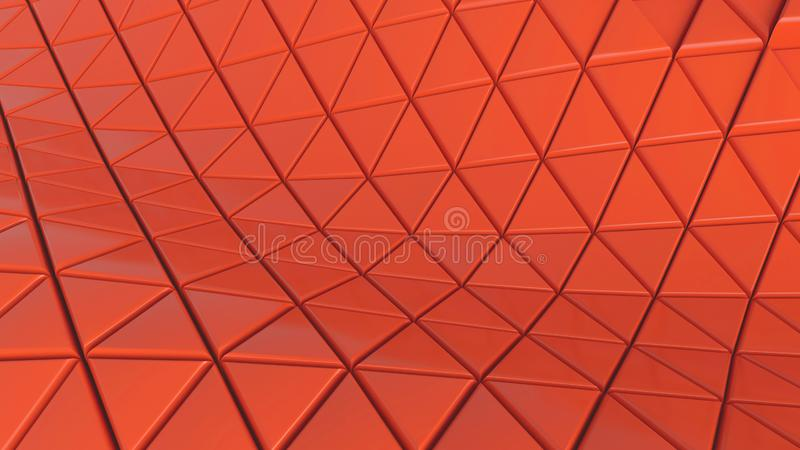 Coral claro del color del piso del contexto de las células abstractas del fondo para el hexágono futurista de los gráficos, ejemp ilustración del vector