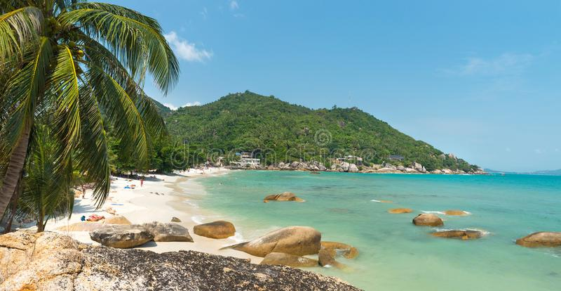 Coral Cove strandsikt på Koh Samui Island Thailand arkivbilder