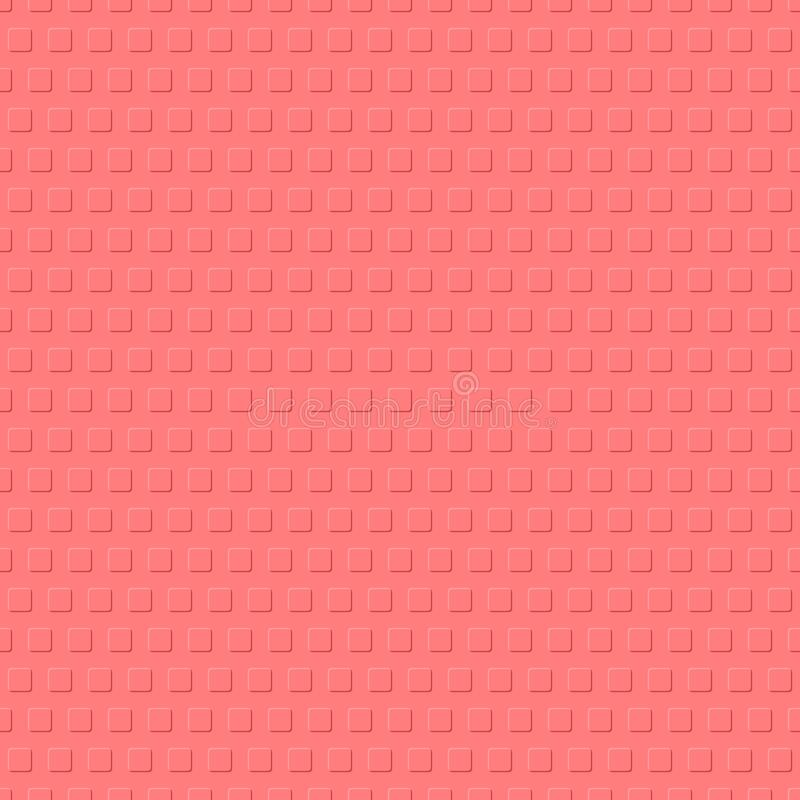 Coral cubes. square shapes with rounded corners. vector seamless pattern. simple geometric repetitive background. textile design. Element. fabric swatch stock illustration