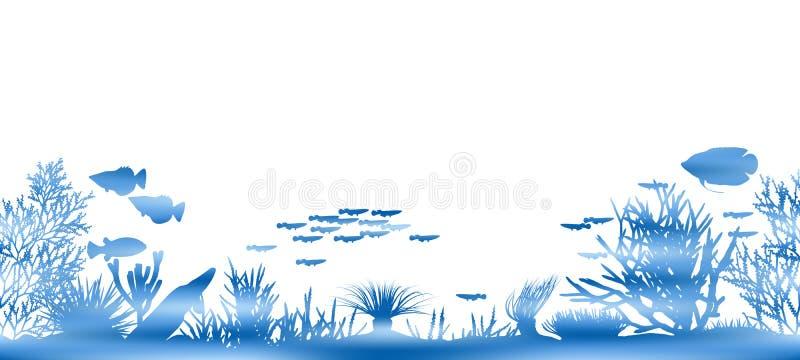 Coral da água ilustração royalty free