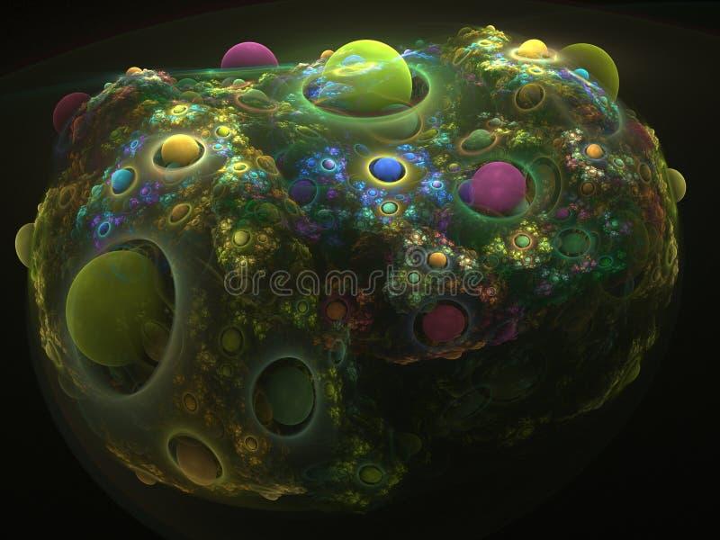 Coral do Fractal ilustração do vetor