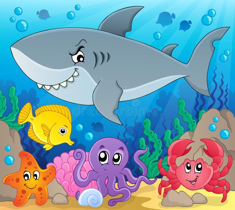 Coral fauna topic image 3. Eps10 vector illustration vector illustration