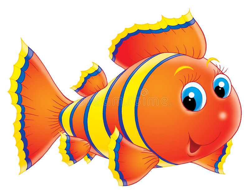 Coral fish. Isolated clip-art and children's illustration for yours design, postcard, album, cover, scrapbook, etc