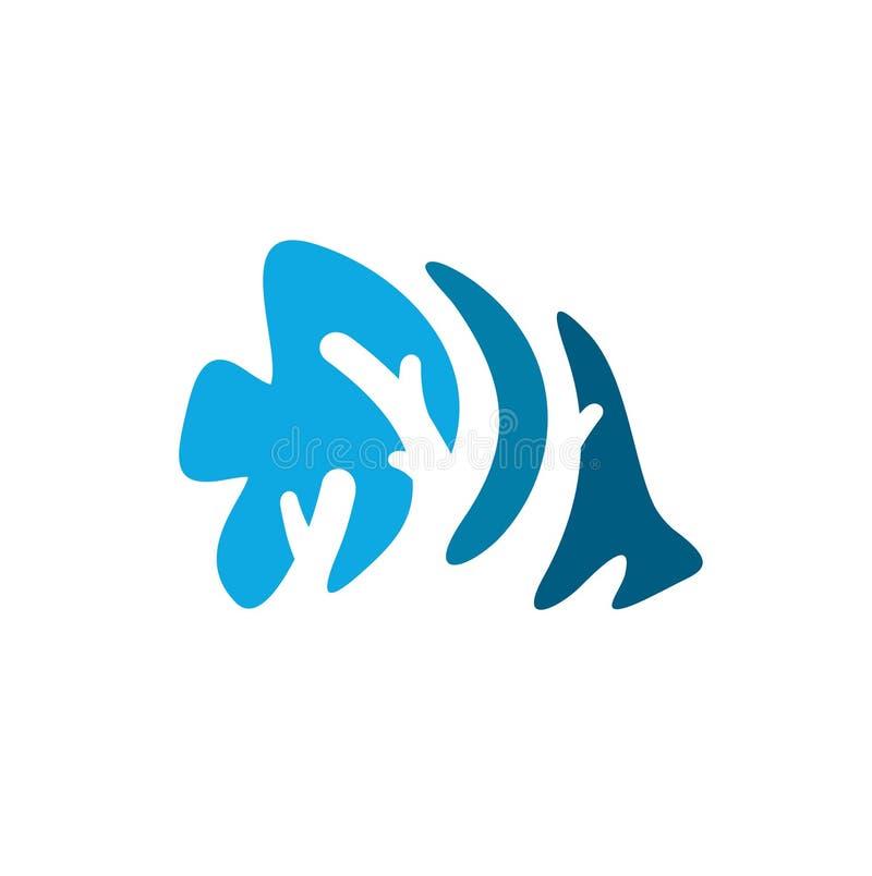 Coral Fish Logo Inspiration per consapevolezza dell'ambiente, ambientalista dell'oceano royalty illustrazione gratis
