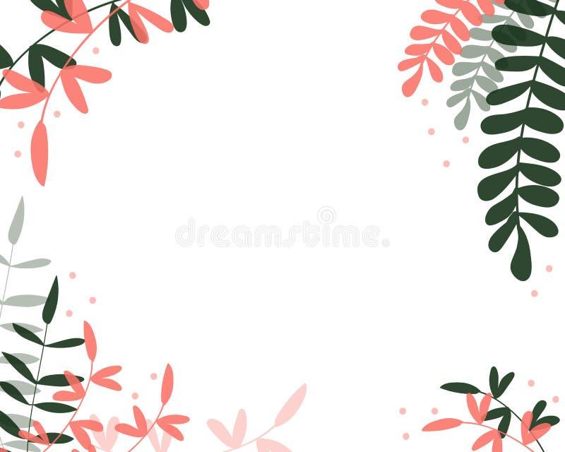 Coral Frame ilustración del vector