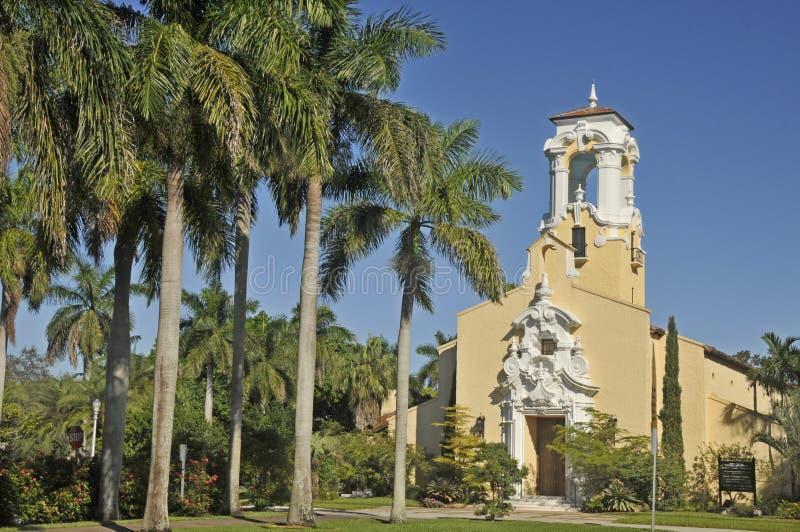 Coral Gables Congregational Church. MIAMI FLORIDA 10 29 2012: Coral Gables Congregational Church is a historic church in Coral Gables, Florida USA. The church stock photos