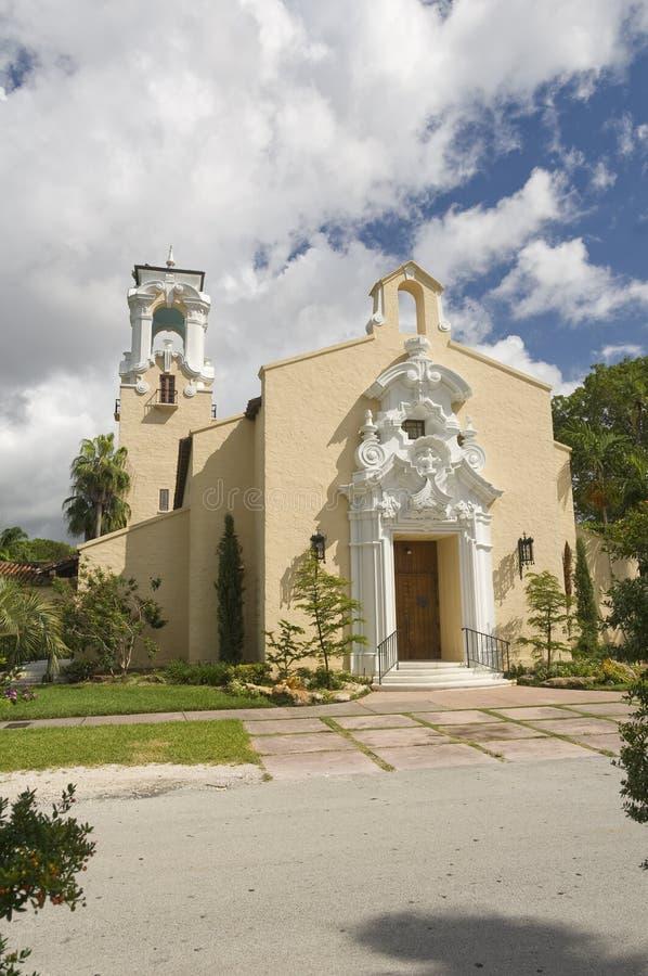 Coral Gables Congregational United Church de Cristo foto de stock royalty free