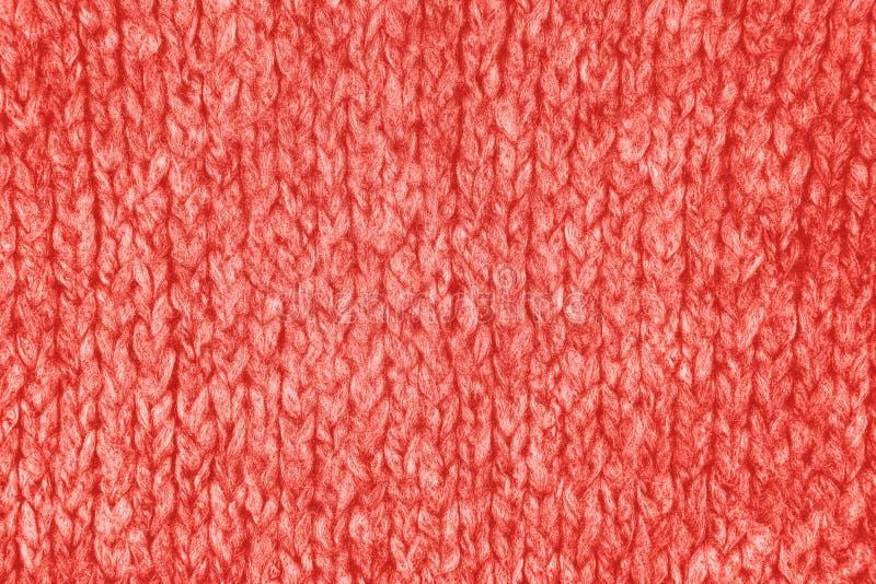 Coral Knitwear Fabric Texture fotografía de archivo