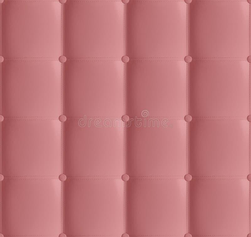 Coral Leather Quilted Headboard Seamless-Muster, weicher lederner Luxushintergrund Weiße Kopfende, Bett Hintergrundbeschaffenheit lizenzfreie stockbilder