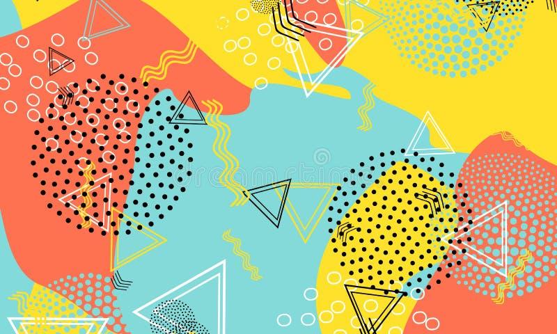 Coral Pattern van 80 jaar Amber Fluid Flyer Aqua Summer royalty-vrije illustratie