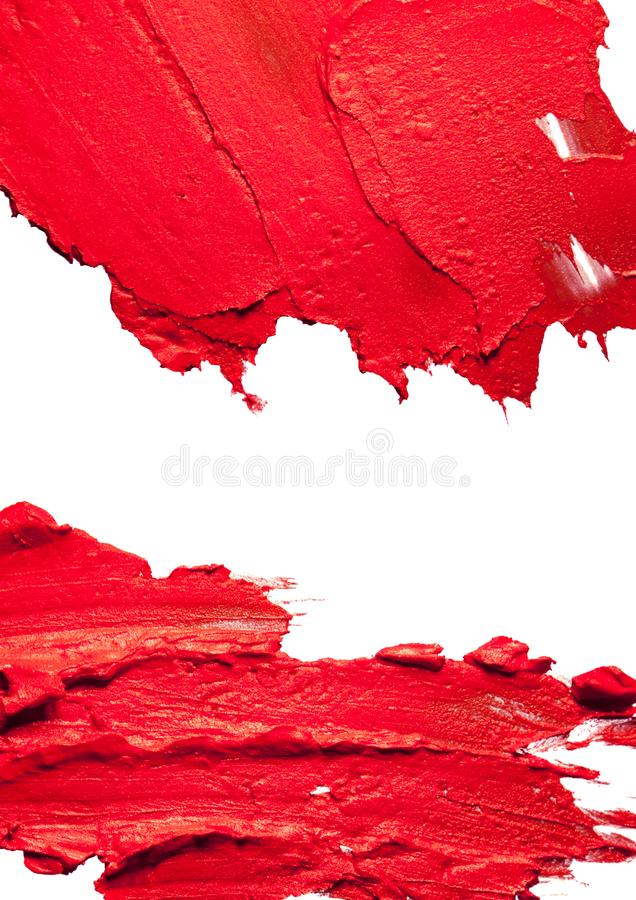 Coral pink lipstick background texture smudge royalty free stock photo