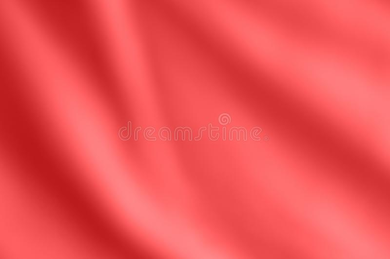 Coral Pink Satin Fabric drapante doucement photo stock